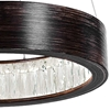 "Picture of 16"" LED Chandelier with Wood Grain Brown Finish"