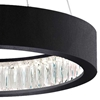 "Picture of 20"" LED Chandelier with Matte Black Finish"
