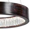 "Picture of 20"" LED Chandelier with Wood Grain Brown Finish"