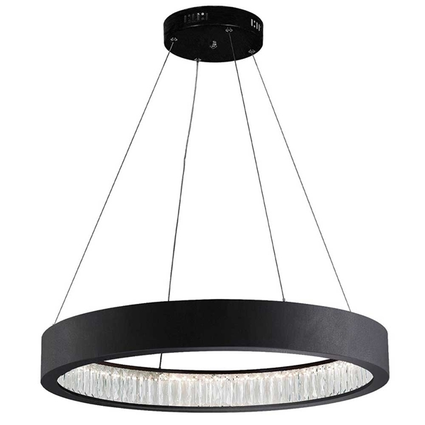 "Picture of 26"" LED Chandelier with Matte Black Finish"