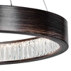 "Picture of 26"" LED Chandelier with Wood Grain Brown Finish"