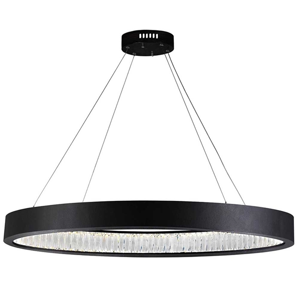 """Picture of 42"""" LED Chandelier with Matte Black Finish"""