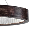 "Picture of 42"" LED Chandelier with Wood Grain Brown Finish"