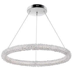 """17"""" LED Chandelier with Chrome Finish"""