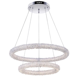 """25"""" LED Chandelier with Chrome Finish"""