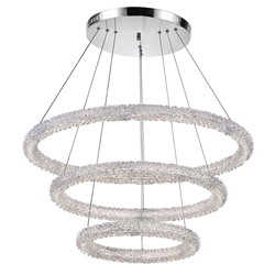 """32"""" LED Chandelier with Chrome Finish"""