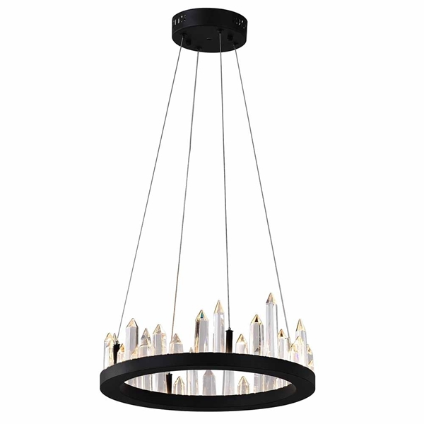 "Picture of 16"" LED Chandelier with Black Finish"