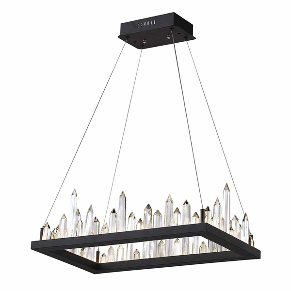 "Picture of 32"" LED Chandelier with Black Finish"
