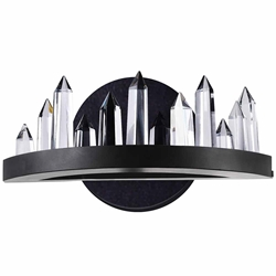 """12"""" LED Wall Sconce with Black Finish"""