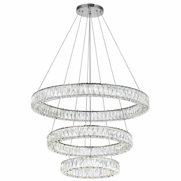 "Picture of 32"" LED Chandelier with Chrome Finish"