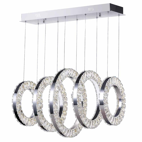 "Picture of 26"" LED Chandelier with Chrome Finish"
