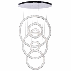 """58"""" LED Chandelier with Chrome Finish"""