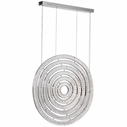 """37"""" LED Chandelier with Chrome Finish"""