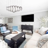 """Picture of 37"""" LED Chandelier with Chrome Finish"""