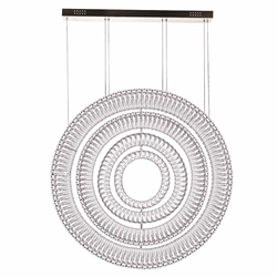 """42"""" LED Chandelier with Chrome Finish"""