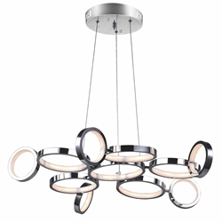 "28"" LED Chandelier with Chrome Finish"