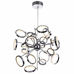 "31"" LED Chandelier with Chrome Finish"