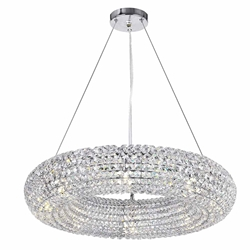 """24"""" 8 Light Chandelier with Chrome Finish"""