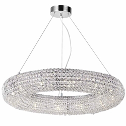 "32"" 12 Light Chandelier with Chrome Finish"