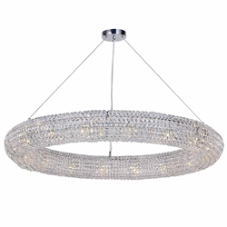 """40"""" 16 Light Chandelier with Chrome Finish"""