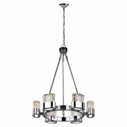 """25"""" 6 Light Chandelier with Chrome Finish"""