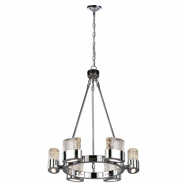 """Picture of 25"""" 6 Light Chandelier with Chrome Finish"""