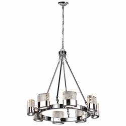 """28"""" 8 Light Chandelier with Chrome Finish"""
