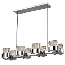 """34"""" 8 Light Chandelier with Chrome Finish"""
