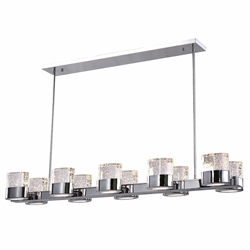 """47"""" 10 Light Chandelier with Chrome Finish"""