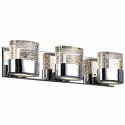 """21"""" 3 Light Wall Sconce with Chrome Finish"""