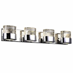 """29"""" 4 Light Wall Sconce with Chrome Finish"""
