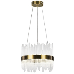 "16"" LED Chandelier with Antique Brass Finish"