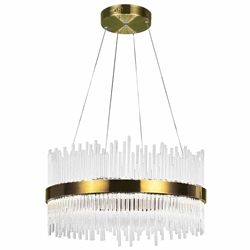 "24"" LED Chandelier with Antique Brass Finish"
