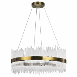 "32"" LED Chandelier with Antique Brass Finish"