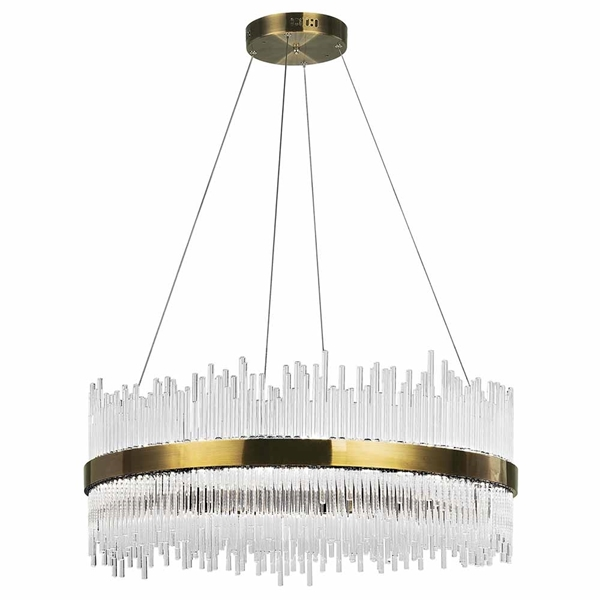 "Picture of 32"" LED Chandelier with Antique Brass Finish"