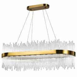 "39"" LED Chandelier with Antique Brass Finish"