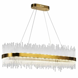 "47"" LED Chandelier with Antique Brass Finish"
