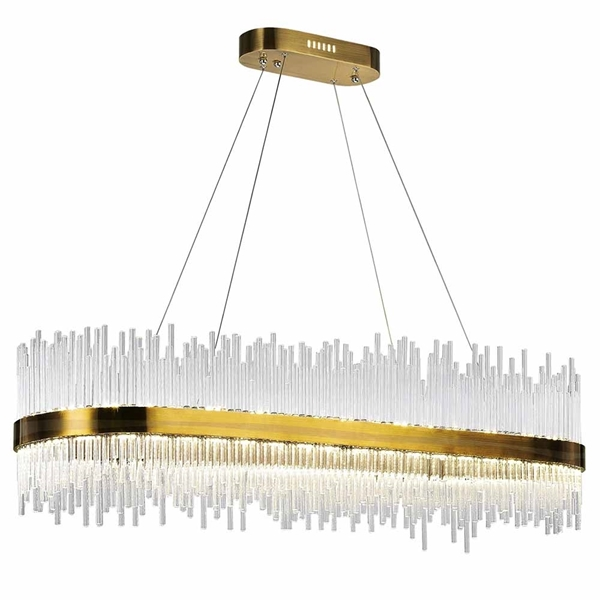 "Picture of 47"" LED Chandelier with Antique Brass Finish"
