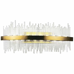 "32"" LED Wall Sconce with Antique Brass Finish"