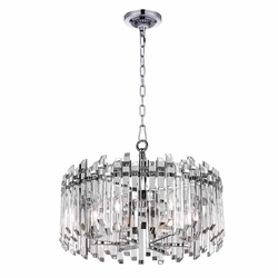 "24"" 6 Light Chandelier with Chrome Finish"