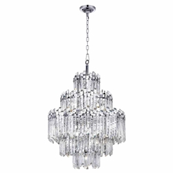 "40"" 15 Light Chandelier with Chrome Finish"