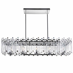 "47"" 10 Light Chandelier with Chrome Finish"
