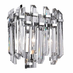 "10"" 1 Light Wall Sconce with Chrome Finish"