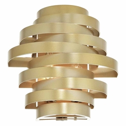 """10"""" 2 Light Wall Sconce with Gold Leaf Finish"""