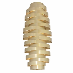 """24"""" 6 Light Wall Sconce with Gold Leaf Finish"""