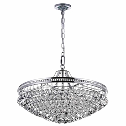 """30"""" 13 Light Chandelier with Chrome Finish"""