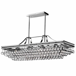 """42"""" 10 Light Chandelier with Chrome Finish"""