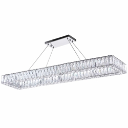 """44"""" LED Chandelier with Chrome Finish"""