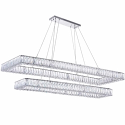 """52"""" LED Chandelier with Chrome Finish"""