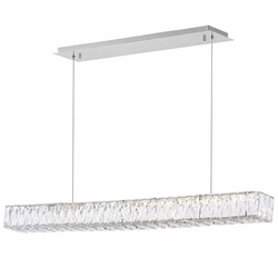 "39"" LED Chandelier with Chrome Finish"